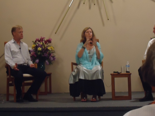 Rare Picture of Letizia in Trance Answering this Question at Sarasota Center of Light USA